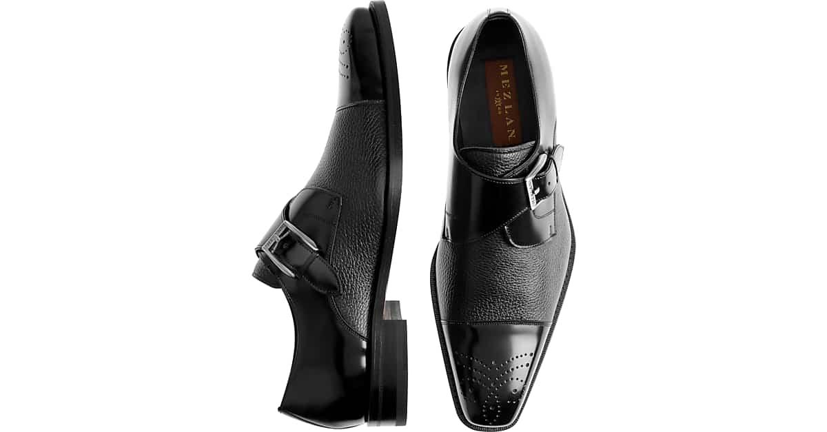 Mezlan Phoenix Black Cap-Toe Oxfords - Men's Dress Shoes | Men's Wearhouse