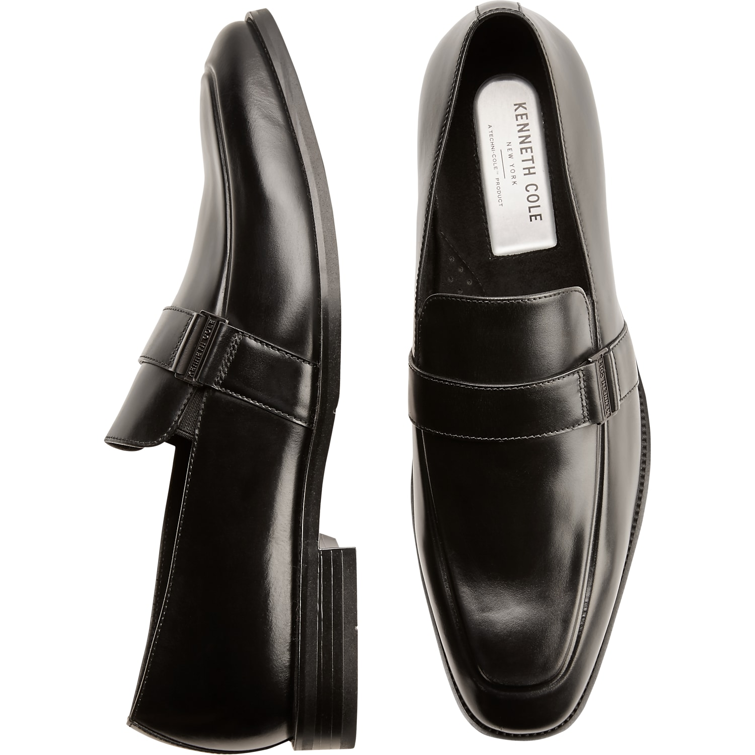 Mens Shoes - Kenneth Cole TECHNI-COLE Black Loafers - Men's Wearhouse