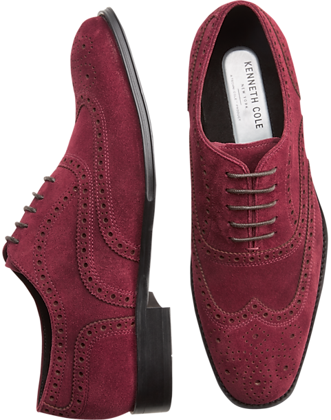 Kenneth Cole Techni Cole Burgundy Wingtip Oxfords by Kenneth Cole