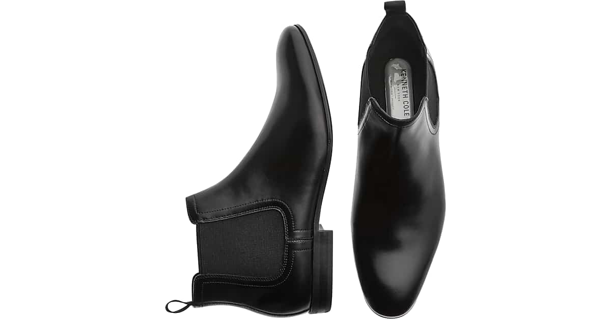 068243c9d8 Kenneth Cole TECHNI-COLE Black Chelsea Boots - Men's Shoes | Men's Wearhouse