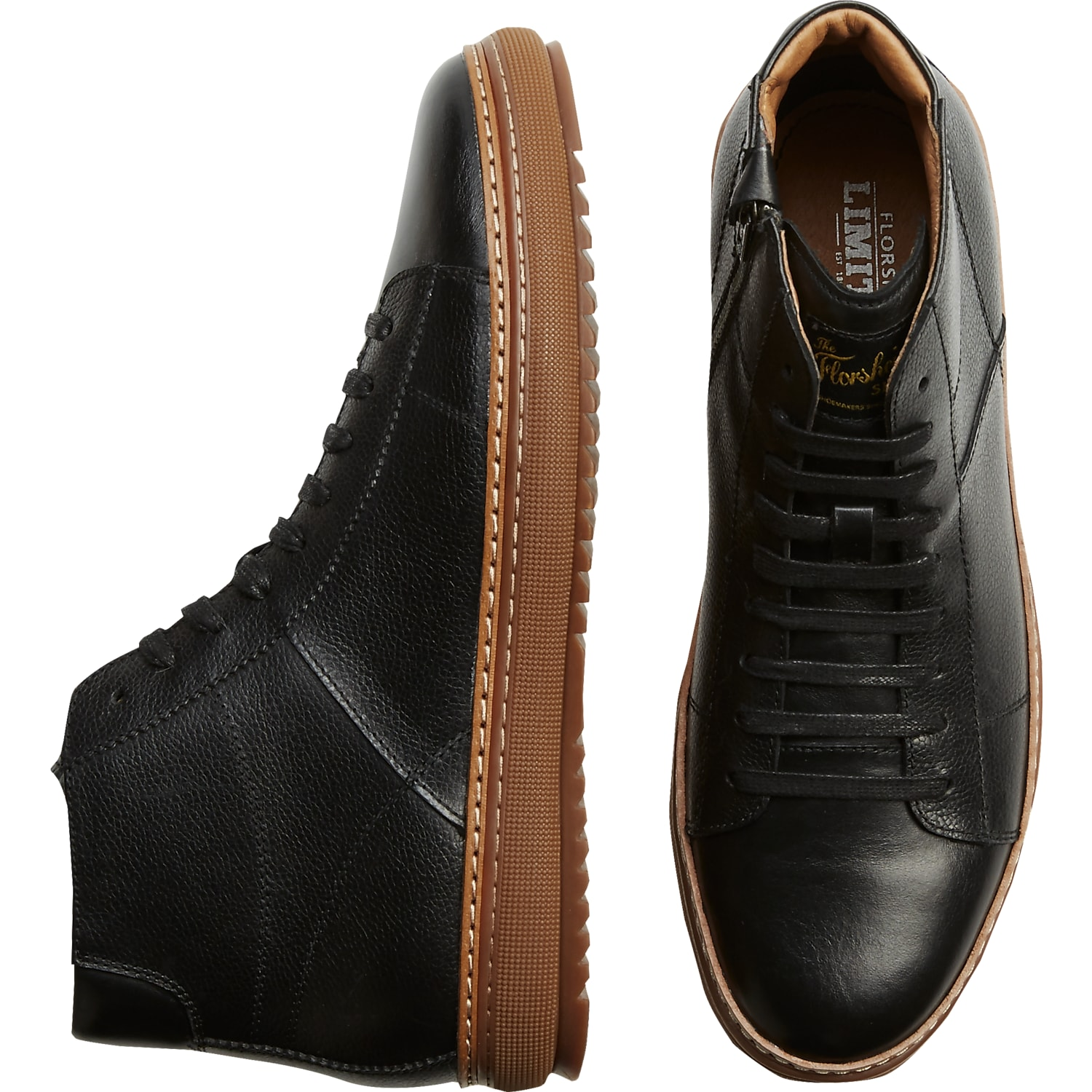 Mens Florsheim Shoes, Shoes - Florsheim Crew Hi Black Sneakers - Men's  Wearhouse