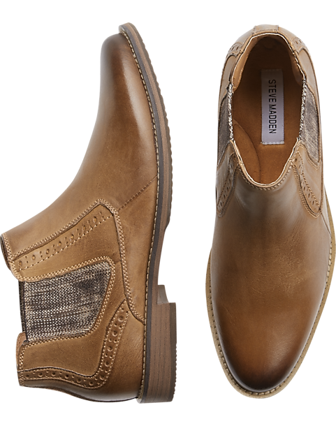 Steve Madden Piersn Tan Chelsea Boot - Mens Home - Men's Wearhouse