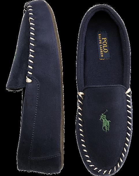 b6c927417d3 Polo Ralph Lauren Dezi II Navy Moccasin Slippers - Men s Shoes ...