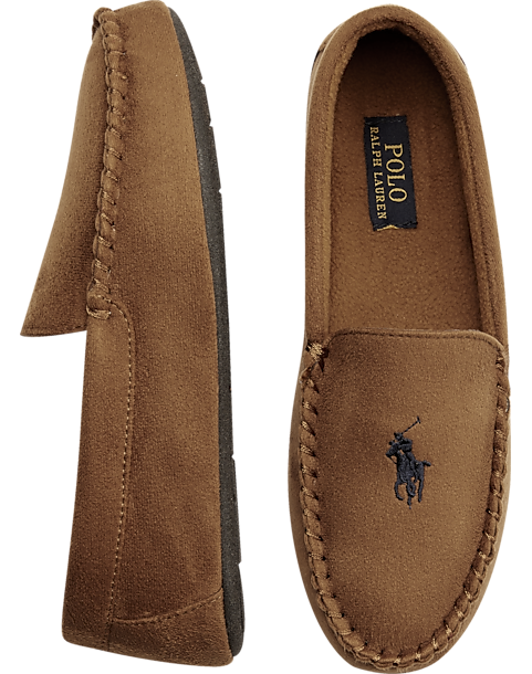 96c47af0ed3b89 Polo Ralph Lauren Dezi II Tan Moccasin Slippers - Men s Slippers ...