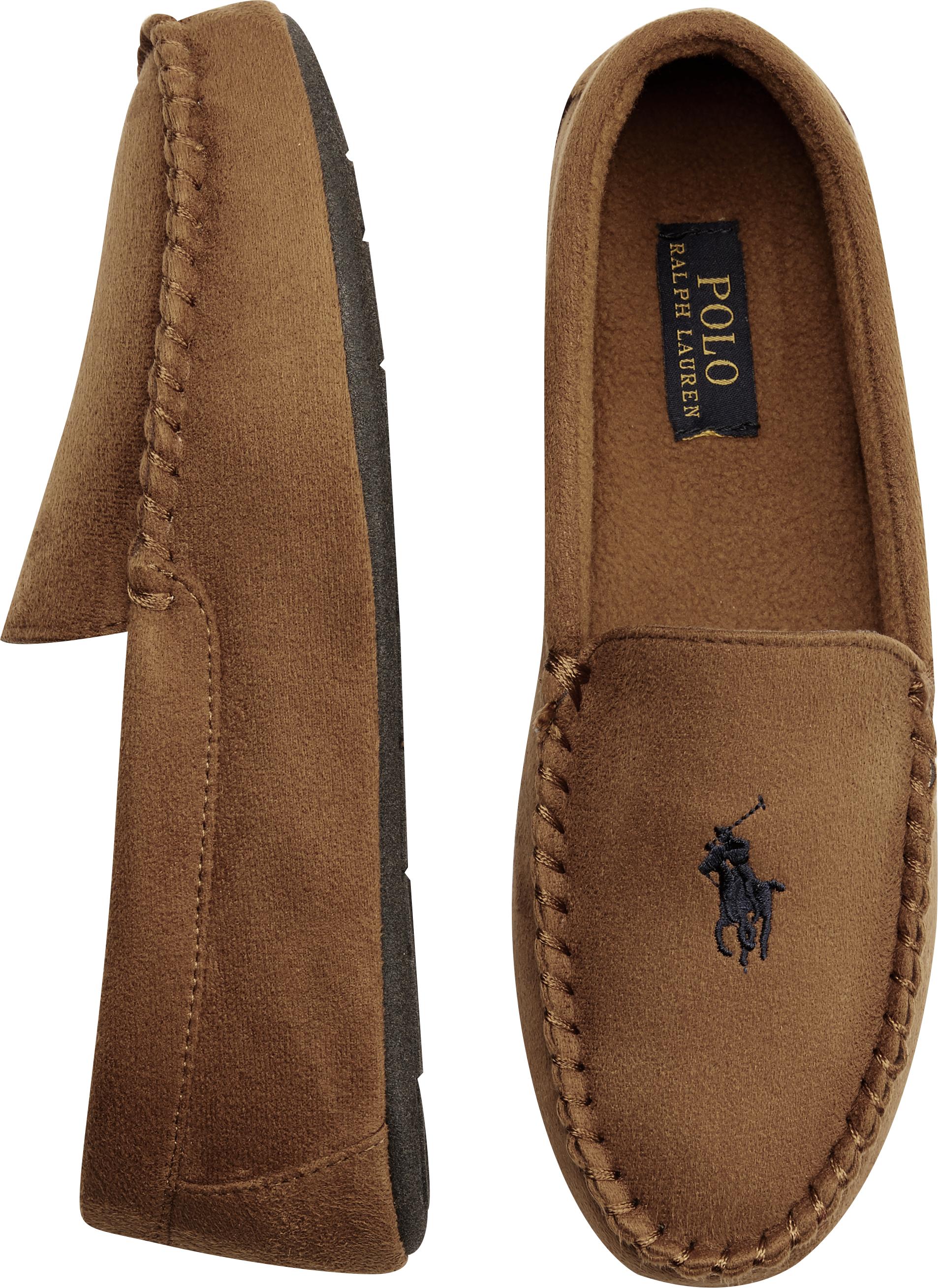 Polo Ralph Lauren Dezi II Tan Moccasin Slippers - Men\u0027s Slippers | Men\u0027s  Wearhouse
