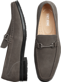 a85f9ba4613 Leather · Soft · Tassel · Stacy Adams Newcombs Gray Moc Toe Loafers