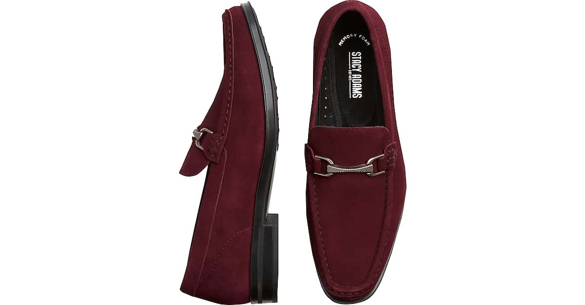 354a8ab3ed5 Stacy Adams Newcombs Burgundy Moc Toe Loafers - Men s Shoes