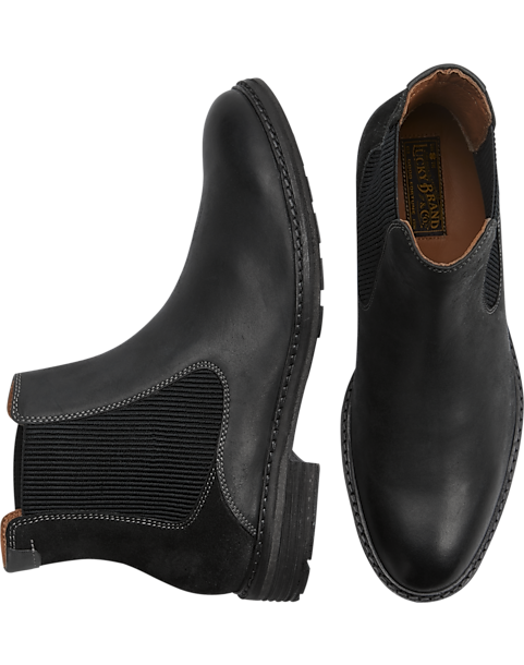1ebd0c212 Lucky Brand Hutchins Black Chelsea Boot - Men's Shoes | Men's Wearhouse