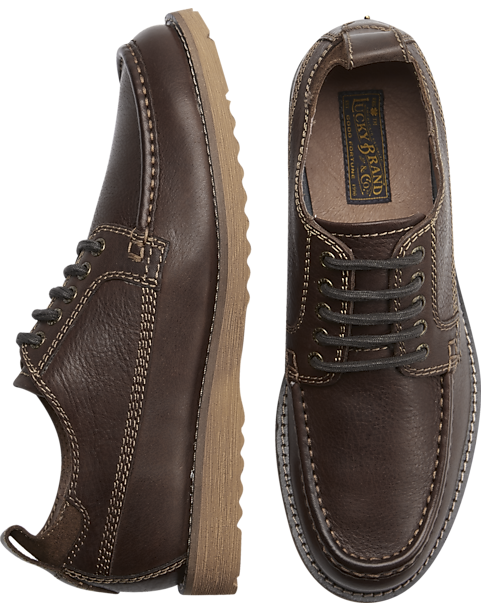 89354525330d2 Lucky Brand Stocker Brown Moc Toe Lace Ups - Men s Shoes