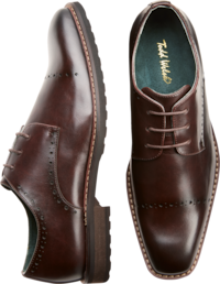 Deals on Todd Welsh Brown Cap Toe Oxfords