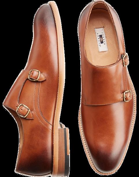 d8059a7417 Joseph Abboud Bradbury Tan Monk Strap Dress Shoes - Men s Shoes ...
