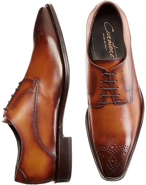 Curatore Enzo Tan Plain Toe Oxfords by Mens Wearhouse