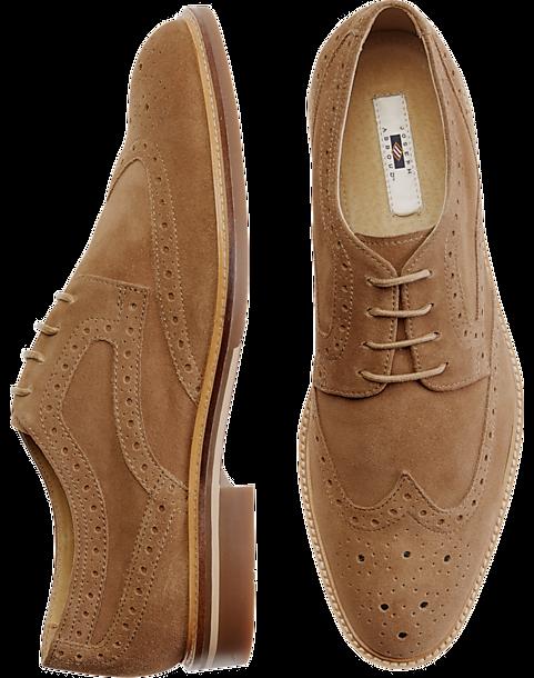 933e507cff736 Joseph Abboud Wicks Tan Wingtip Suede Oxford - Men's Shoes   Men's ...