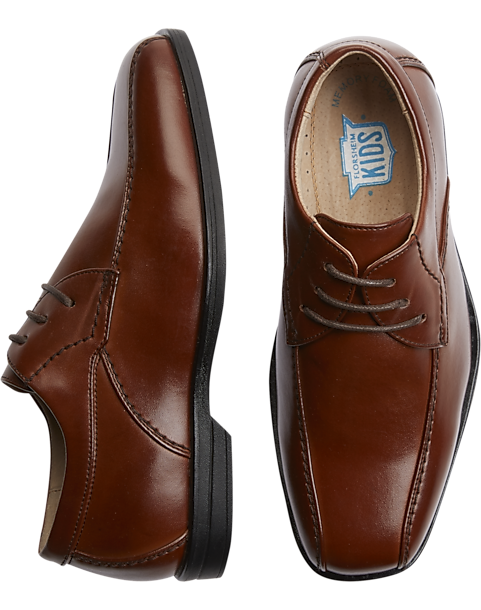 61d1d7b1d Florsheim Rolan Cognac Brown Boys Bike Toe Oxfords - Men's Shoes ...