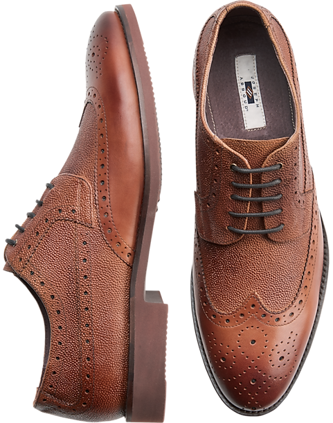 b6066dd18a8 Joseph Abboud Snyder Tan Wingtip Oxfords