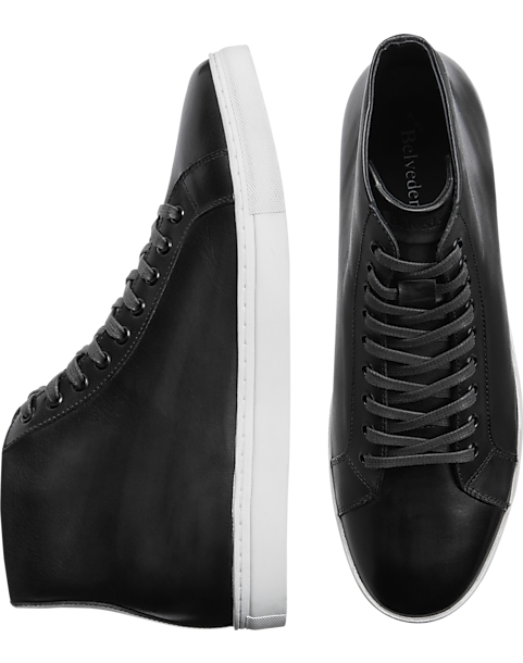 949b0b996ce2d Converse Black Leather Jack Purcell High Tops Shoes Mens · Selected View