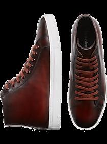 Belvedere Jay Brown Leather Hi-Top Sneakers