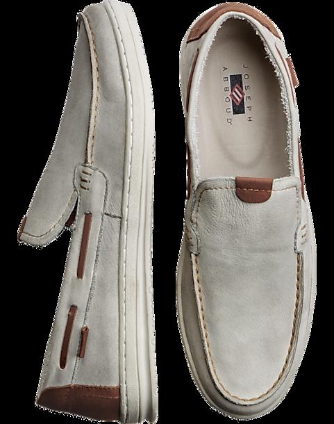0a366f20779e Joseph Abboud Softee Gray Boat Shoes - Men s Shoes