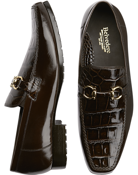 654f50c7c3 Belvedere Plato Brown Bit Loafers - Men's Shoes   Men's Wearhouse