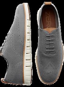 82b820261b5 Mens Customer Favorite Shoes, Shoes - Cole Haan Zerogrand Stitchlite Gray  Wingtip Oxfords - Men's