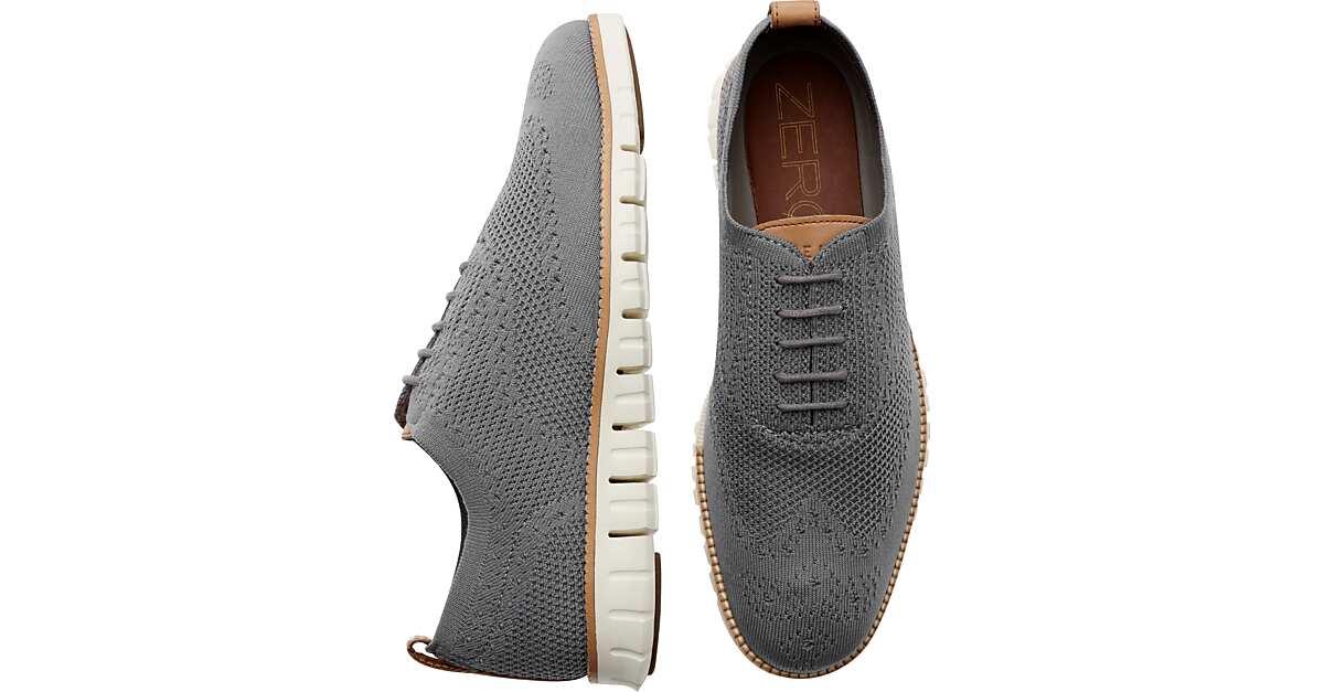 0c370e07b1d2e Cole Haan Zerogrand Stitchlite Gray Wingtip Oxfords - Men's Shoes   Men's  Wearhouse