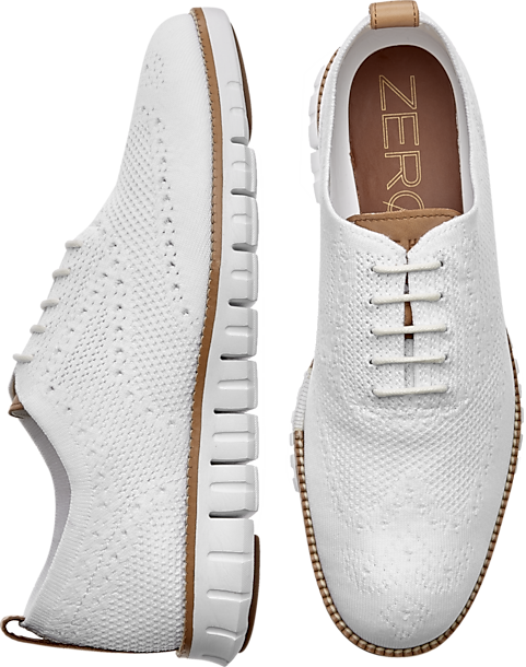 dbe912b395 Cole Haan Zerogrand Stitchlite White Wingtip Oxfords - Men's Shoes ...