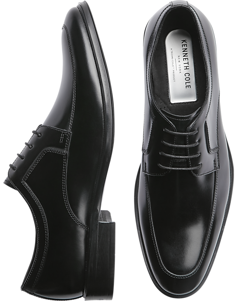 Ups Near My Location >> Kenneth Cole TECHNI-COLE Tully Black Apron Toe Lace Ups - Men's Dress Shoes | Men's Wearhouse