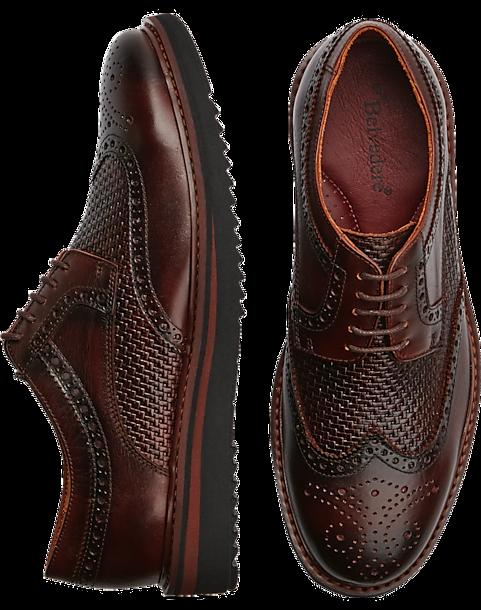 808be41ae5f81 Belvedere Luis Brown Wingtip Lace-Ups - Men's Shoes | Men's Wearhouse