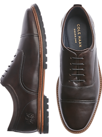 f9e43f42345a7f Mens Suits - Cole Haan Raymond Grand Dark Brown Cap Toe Oxfords - Men s  Wearhouse