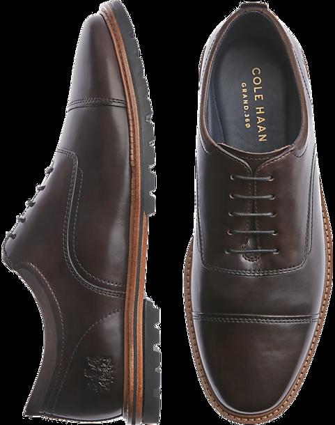 6880cfef73ddbb Cole Haan Raymond Dark Brown Cap Toe Oxfords - Men s Shoes