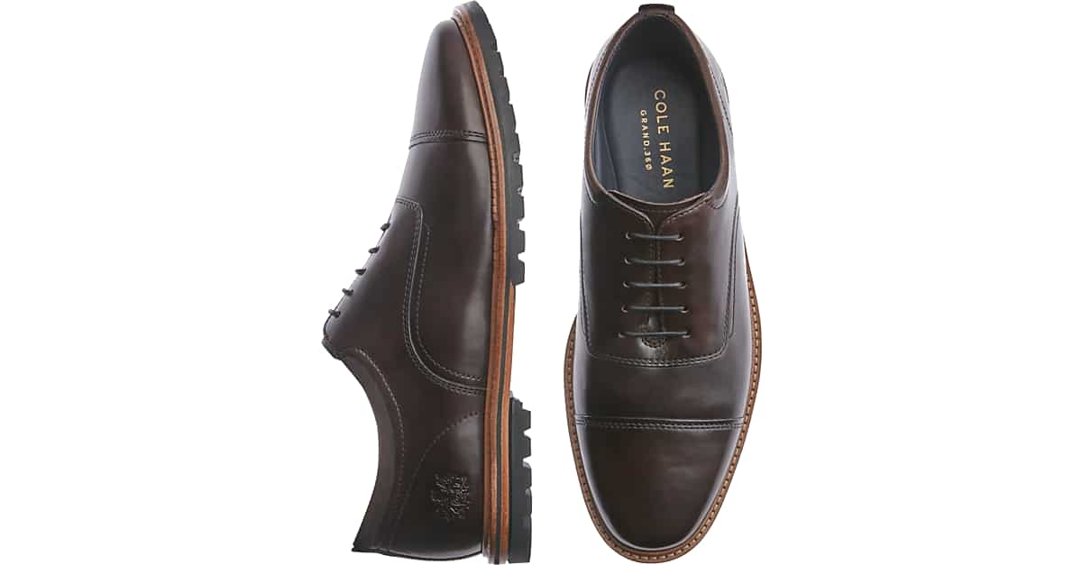 fc24fa2c3c Cole Haan Raymond Grand Dark Brown Cap Toe Oxfords - Men's Shoes | Men's  Wearhouse