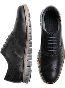 9adea93a6faef Mens Home - Cole Haan Zerogrand Navy Wingtip Oxfords - Men s Wearhouse