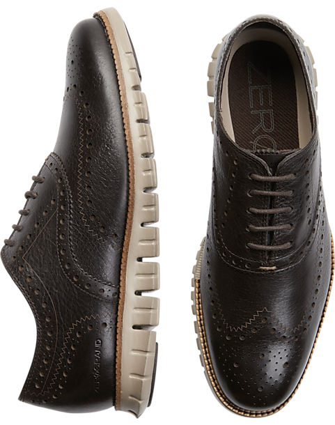 5a5444083a4 Cole Haan Grand.OS Brown Wingtip Oxfords - Men s Shoes