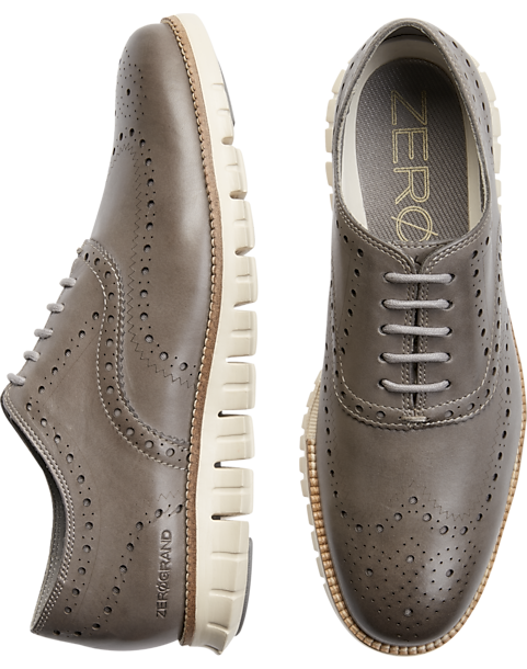 85e620b092 Cole Haan Zerogrand Gray Wingtip Oxfords - Men's Shoes | Men's Wearhouse