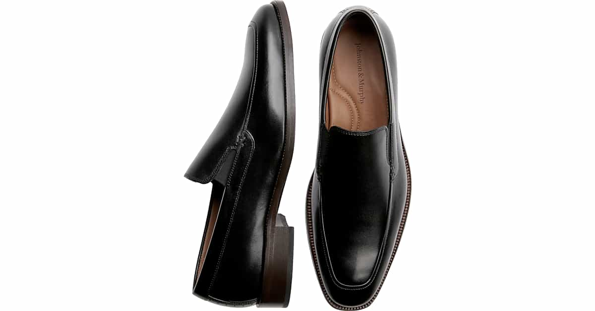 Johnston Murphy Sanborn Black Slip On Mens Dress Shoes Mens