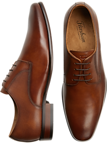 840525cf1 Mens Dress Shoes, Shoes - Florsheim Kierland Cognac Plain-Toe Derbys -  Men's Wearhouse