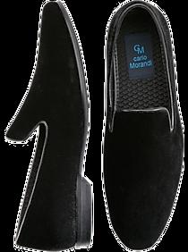 41d1c479d69daa Mens Shoes - Carlo Morandi Black Velvet Smoking Shoes - Men s Wearhouse