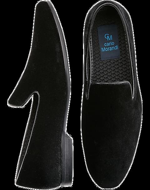 82366e5d7a6 Carlo Morandi Black Velvet Loafers - Men s Dress Shoes