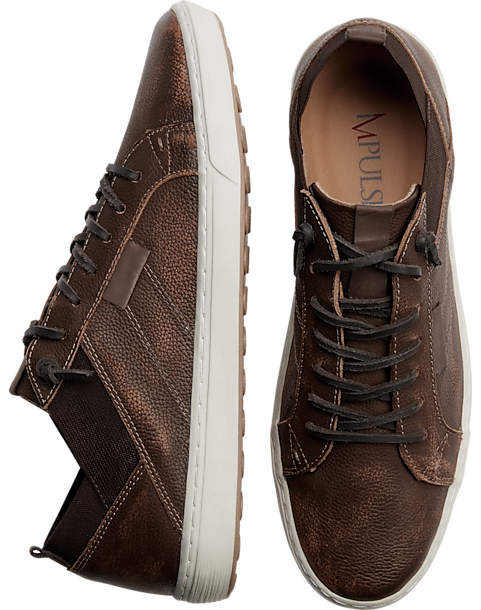 a131edc71db Impulse Brown Leather Sneakers