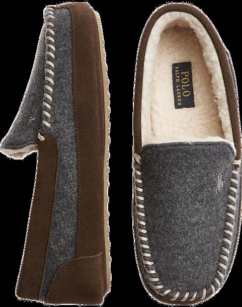 15d86ae08ac Polo Ralph Lauren Cali Gray Moc-Toe Slippers - Men s Shoes