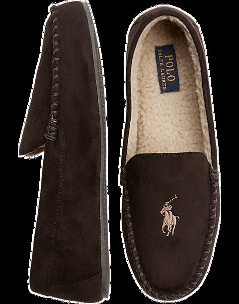 c807cb3825 Polo Ralph Lauren Dezi IV Brown Slippers - Men s Shoes