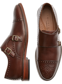 2b2cd802bd6c Mens Shoes - Johnston   Murphy Hughes Brown Monk Strap Cap Toes - Men s  Wearhouse