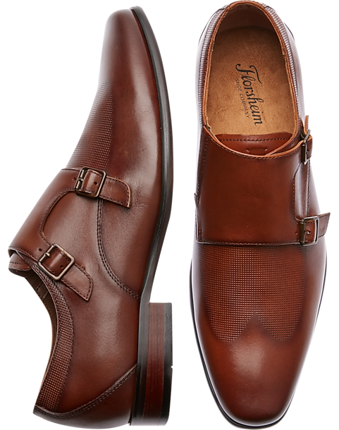 Florsheim Kierland Cognac Double Monk Strap Shoes
