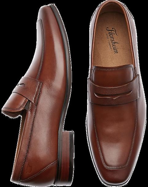 cf7202bd446 Florsheim Kierland Cognac Penny Loafers - Men's Shoes | Men's Wearhouse