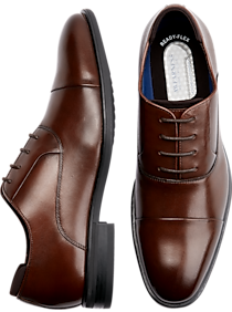 289f27b84624b7 Mens Shoes - Kenneth Cole Awearness Etch Flext Cognac Cap Toe Oxfords -  Men s Wearhouse