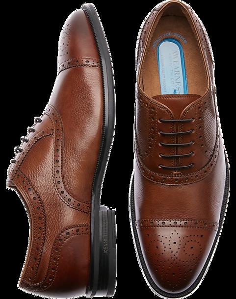 dff61c7a90b3 Kenneth Cole TECHNI-COLE Fly Pod Cognac Cap Toe Shoes - Men s ...
