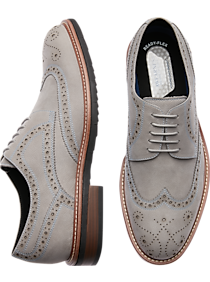 e619adfaf826 Mens Shoes - Awearness Kenneth Cole Kite Gray Wingtip Derbys - Men s  Wearhouse