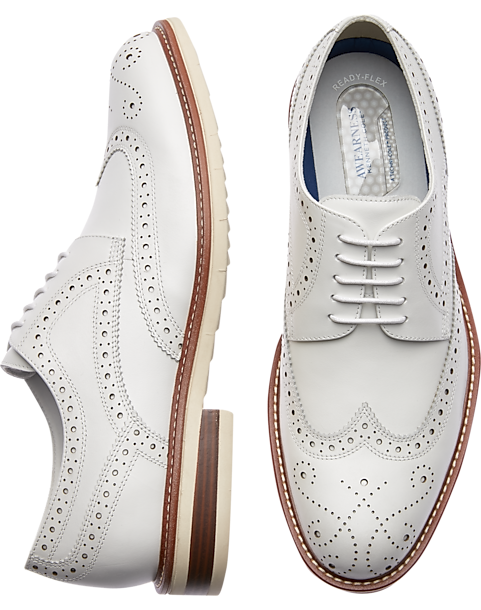 c11cdfdfdf Awearness Kenneth Cole AWEAR-TECH Kite Flex White Wingtip Derbys ...