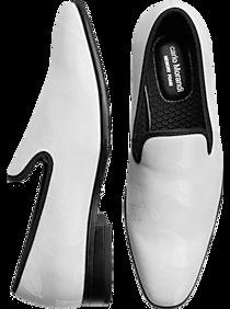 0b232a5c8ae Carlo Morandi Ivory Jacquard Slip-On Smoking Shoes