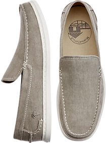 506bc20381bfb Margaritaville Camillo Gray Canvas Loafers